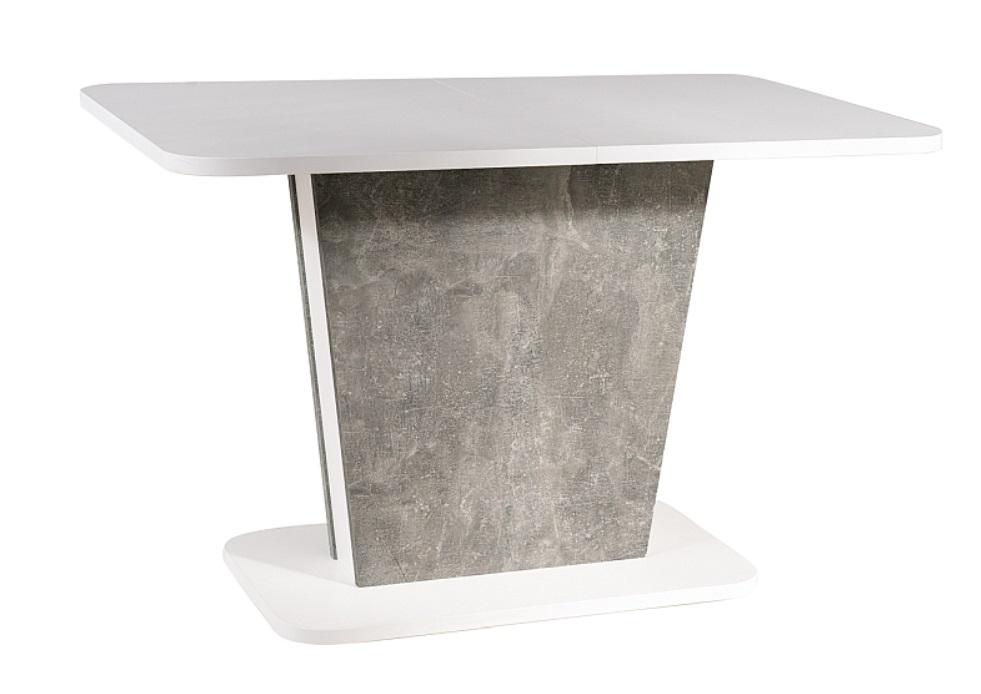 White matt/ Concrete effect