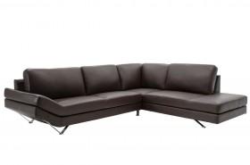 Γωνιακός καναπές Noah με PU χρώμα σκούρο καφέ 285x235x88
