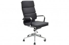Καρέκλα γραφείου διευθυντή Tokyo με PU χρώμα μαύρο