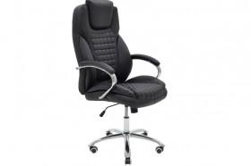 Καρέκλα γραφείου διευθυντή Macabo με PU χρώμα μαύρο