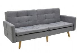 Καναπές - κρεβάτι Flexible υφασμάτινος χρώματος γκρι ανοικτό 198x87x76