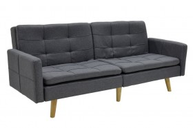 Καναπές - κρεβάτι Flexible υφασμάτινος χρώματος γκρι σκούρο 198x87x76