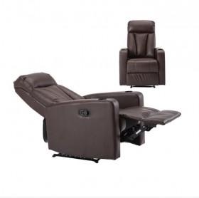 Πολυθρόνα Relax PU Καφέ /   E9740,3 /  76x100x109cm