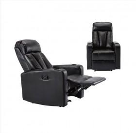 Πολυθρόνα Relax PU Μαύρο /  E9740,2 /  76x100x109cm
