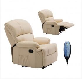 Πολυθρόνα Massage PU Μπεζ /  E9731,1 /  88x93x102 cm