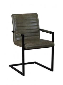 Πολυθρόνα Μεταλ.Μαύρη/Ύφ. Vintage Green / EM796,3 /  54x59x86 cm