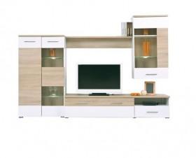 Σύνθεση Τοίχου Sonoma/ Άσπρο / EM387 / 210x40x120 cm