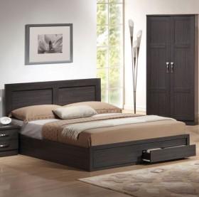 Κρεβάτι διπλό με συρτάρια ZEM3634 / 158x207x93 (Στρώμα 150x200) cm