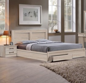 Κρεβάτι διπλό με συρτάρια ZEM3634,2 /  158x207x93 (Στρώμα 150x200) cm