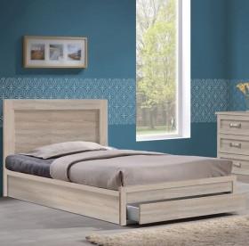 Κρεβάτι μονό με συρτάρι ZEM3633,2 / 99x207x93 (Στρώμα 90x200) cm