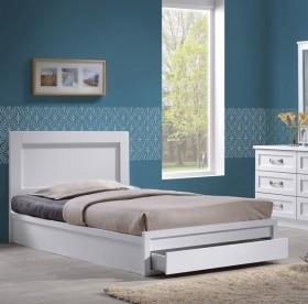 Κρεβάτι μονό με συρτάρι ZEM3632,1 /  118x207x93 (Στρώμα 110x200) cm
