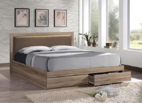 Κρεβάτι διπλό με συρτάρια ZEM371,2 / 171x207x92 (Στρώμα 160x200) cm