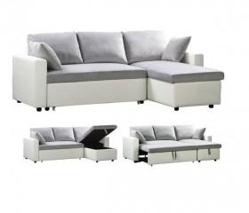 Kαναπές γωνία με κρεβάτι- Αντιστρέψιμος ZE9586,4 / 223x146x80x83