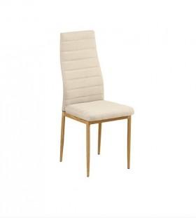 Καρέκλα Μεταλλική Φυσικό/Ύφασμ.Μπεζ / EM966F,126 / 40x50x95 cm
