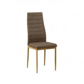 Καρέκλα Μεταλλική Φυσικό/Ύφασμ.Καφέ / EM966F,146 /  40x50x95 cm