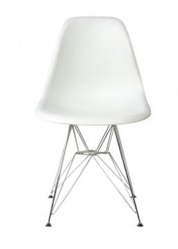 Καρέκλα Χρώμιο/PP Λευκό / EM124,11P /  46x55x82 cm