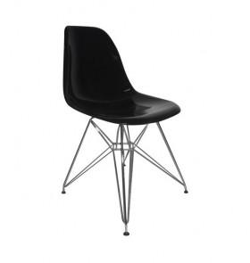 Kαρέκλα Χρώμιο/PP Μαύρο /  EM124,22P /  46x55x82 cm