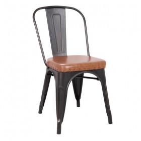 Kαρέκλα Μεταλλική AntΒlac/PU Κάθ.Camel/ E5191P,104 / ΔΙΑΣΤΑΣΕΙΣ 45x51x82cm