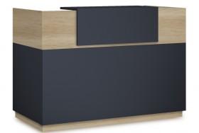 Γραφείο reception Lotus σε χρώμα φυσικό - ανθρακί 180x70x110εκ