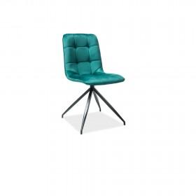 S/Texo Velvet καρέκλα μαύρη 45x42x50/87 cm