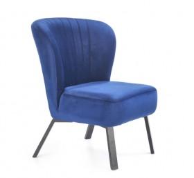 Lanister πολυθρόνα σκούρο μπλε  65x57x78/46 cm