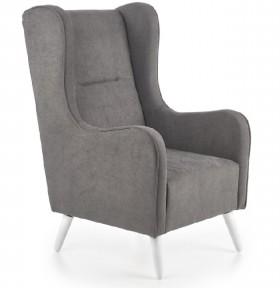 Chester πολυθρόνα σκούρο γκρι  67x85x114/46 cm