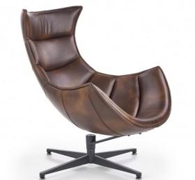 Luxor πολυθρόνα σκούρο καφέ 76x84x96/36 cm