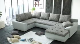 K/Joy U1 Καναπές σε σχήμα Π με κρεβάτι και αποθηκευτικό χώρο 328x210/190x30/88 cm