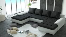 K/Joy U2 καναπές σε σχήμα Π με κρεβάτι και αποθηκευτικό χώρο 321x190/190x41/85 cm