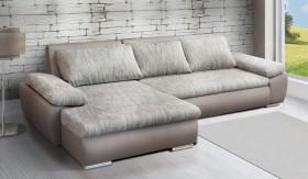K/Karma Καναπές γωνία με κρεβάτι 286x170x40/82 cm