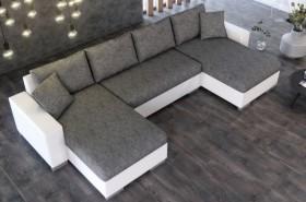 K/Lion καναπές γωνία σε σχήμα Π με κρεβάτι και αποθηκευτικό χώρο 345x160/160x74/80 cm