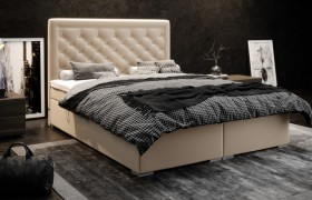 C/Glamour κρεβάτι boxspring με στρώμα και αποθηκευτικό χώρο