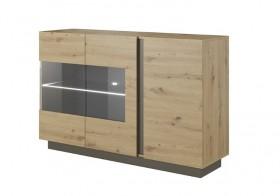 Arco μπουφές με βιτρίνα 138,2x40x90.5 cm