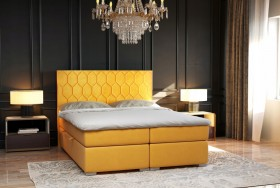C/Pilato κρεβάτι boxspring με στρώμα και αποθηκευτικό χώρο