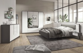 Sega κρεβάτι με 2 κομοδίνα 216x92x208 cm