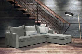 Theano καναπές γωνία 240x190 cm Bazzar με αδιάβροχο-easy clean ύφασμα