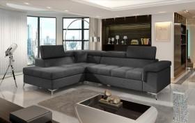 Eridano καναπές γωνία 275x202x90 με μηχανισμό κρεβατιού και αποθηκευτικό χώρο