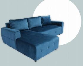 K/ Niko Καναπές γωνία με κρεβάτι και αποθηκευτικό χώρο 230x143 cm