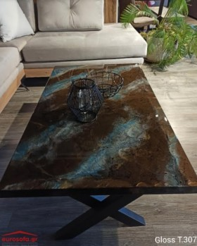 Gloss T.307 τραπεζάκι σαλονιού 120x70x45 cm