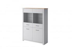 Grey Βιτρίνα 115x154x40 cm