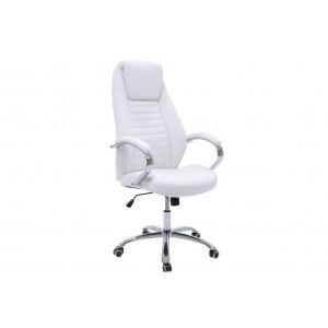 Καρέκλα γραφείου διευθυντή Sonar με PU χρώμα λευκό