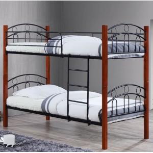 Κρεβάτι κουκέτα ZE8071 /  97x201x160 (Στρώμα 90x190) cm