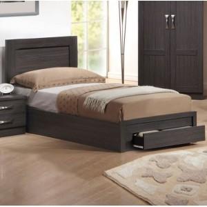 Κρεβάτι μονό με συρτάρι ZEM3633 / 99x207x93 (Στρώμα 90x200) cm