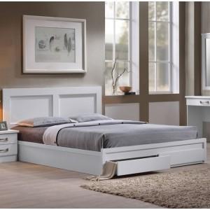 Κρεβάτι διπλό με συρτάρια ZEM3634,1 / 158x207x93 (Στρώμα 150x200) cm
