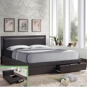 Κρεβάτι διπλό με συρτάρια ZEM371 /  171x207x92 (Στρώμα 160x200) cm