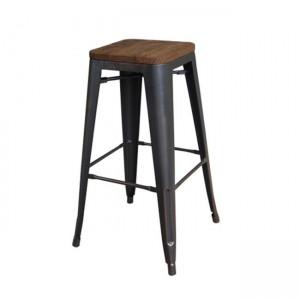 Σκαμπό bar ZE5190W,10 / ΔΙΑΣΤΑΣΕΙΣ 43x43 H.76 cm