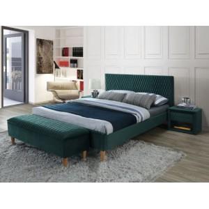 S/Azurro Velvet κρεβάτι 206x165x36/96 cm