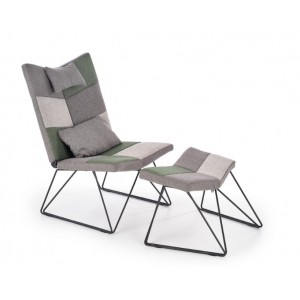 Remix πολυθρόνα με υποπόδιο