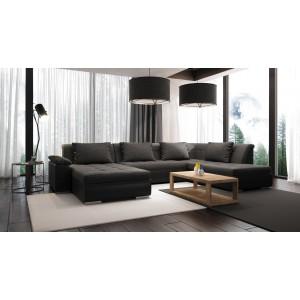 K/Limo καναπές σε σχήμα Π με κρεβάτι 342x162/193x41/80 cm