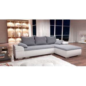 K/Cezar καναπές γωνία με κρεβάτι και αποθηκευτικό χώρο 272x180x42/80 cm